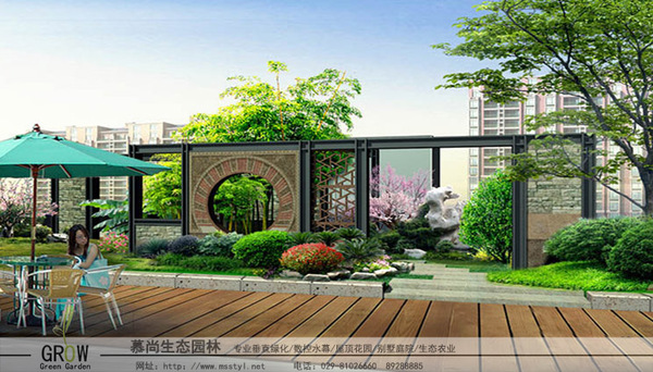 屋頂花園,西安屋頂花園,屋頂綠化,西安屋頂綠化,立體綠化,西安立體綠化