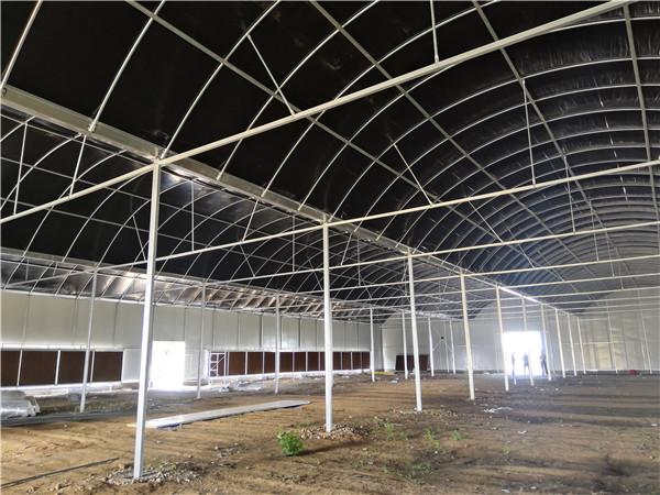 法门镇壮大村集体经济食用菌专用连栋温室大棚项目