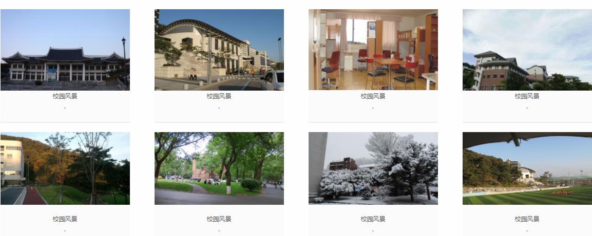 韩国湖南大学 校园风景