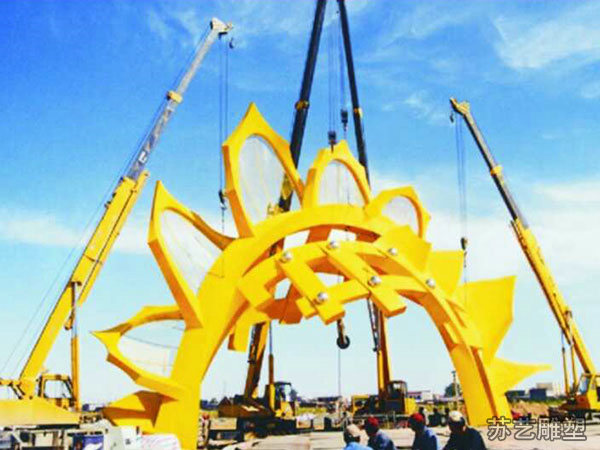 乌鲁木齐安装向日葵不锈钢雕塑