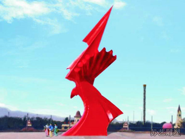 长安街定制启航玻璃钢雕塑