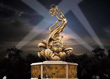 城市锻铜雕塑