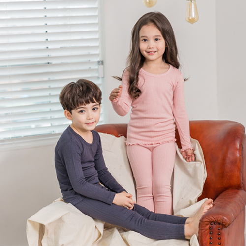 韩国儿童纯色家居服