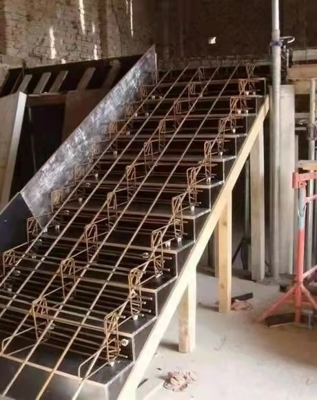 楼梯支模钢筋绑扎效果