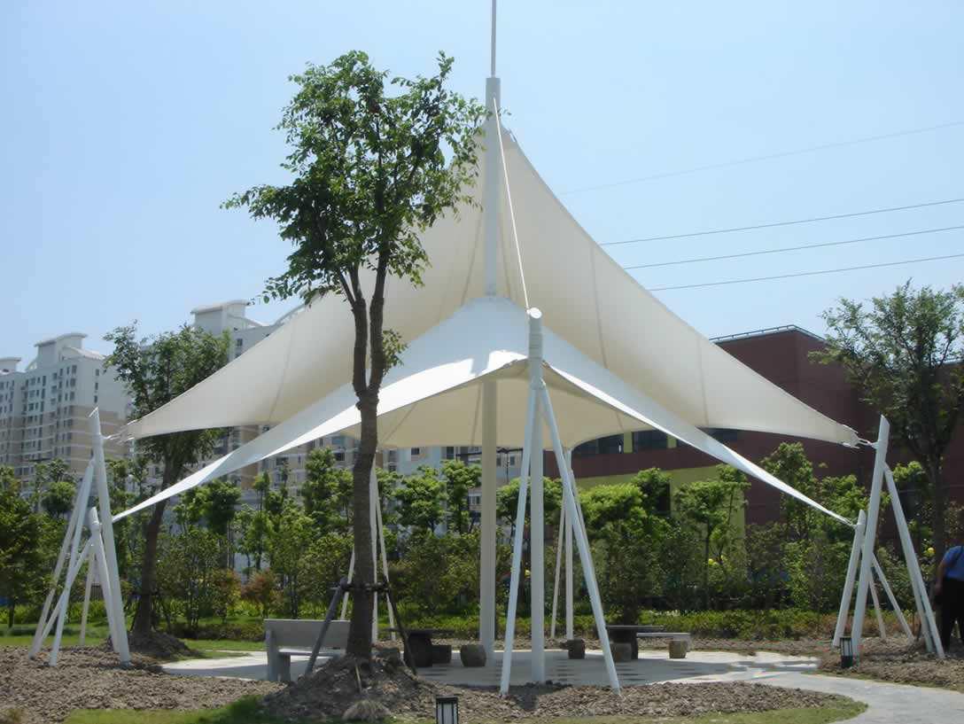 商业设施膜结构雨棚