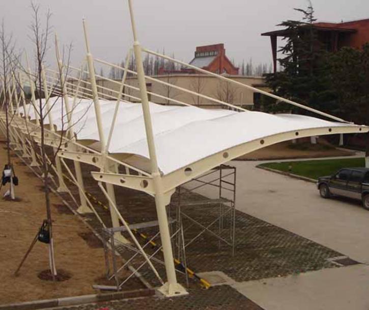 户外电动车雨棚膜结构停车棚