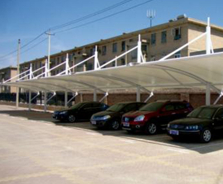 户外遮阳蓬膜结构汽车棚