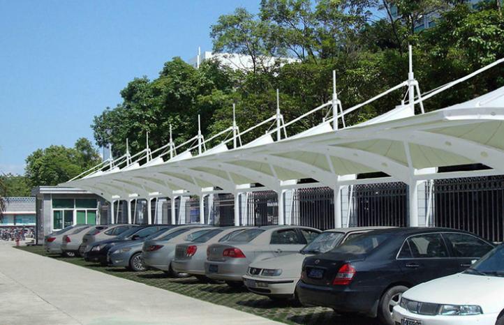 大型户外钢膜结构车棚