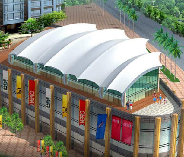 商场膜结构顶棚