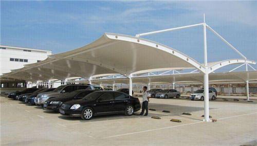 贵州圆柱拉杆停车棚厂家安装