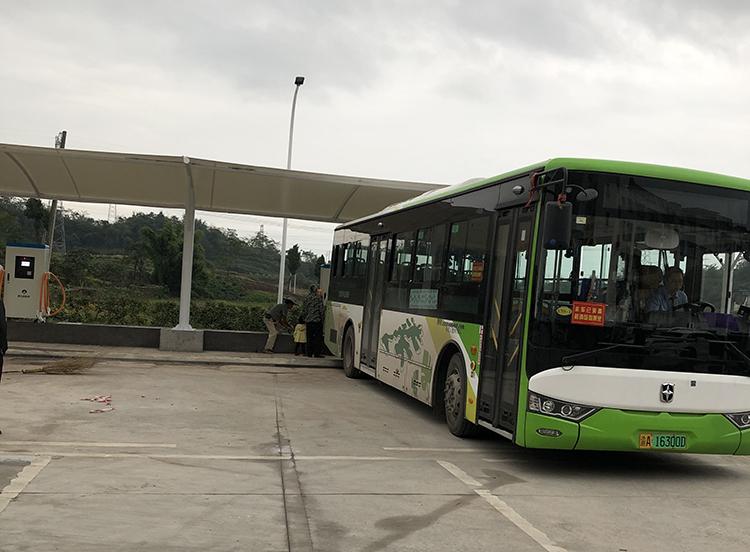 新能源公交车充电桩膜结构遮阳棚
