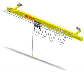 Low clearance electric single girder overhead traveling crane