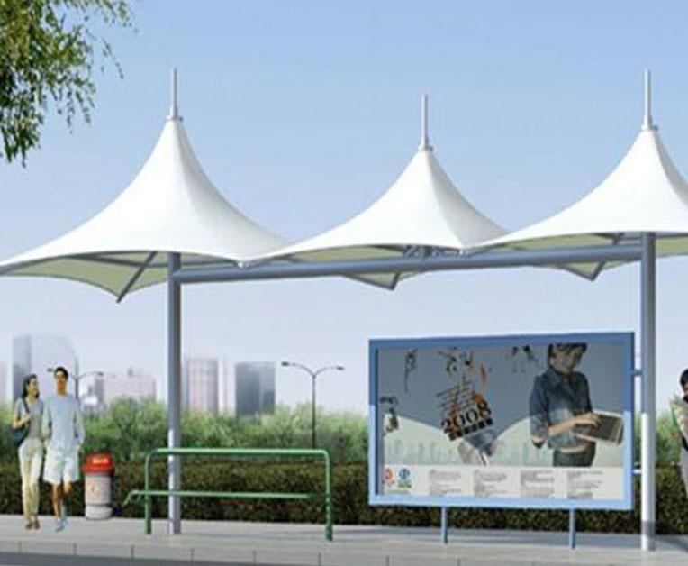 公交站亭膜结构