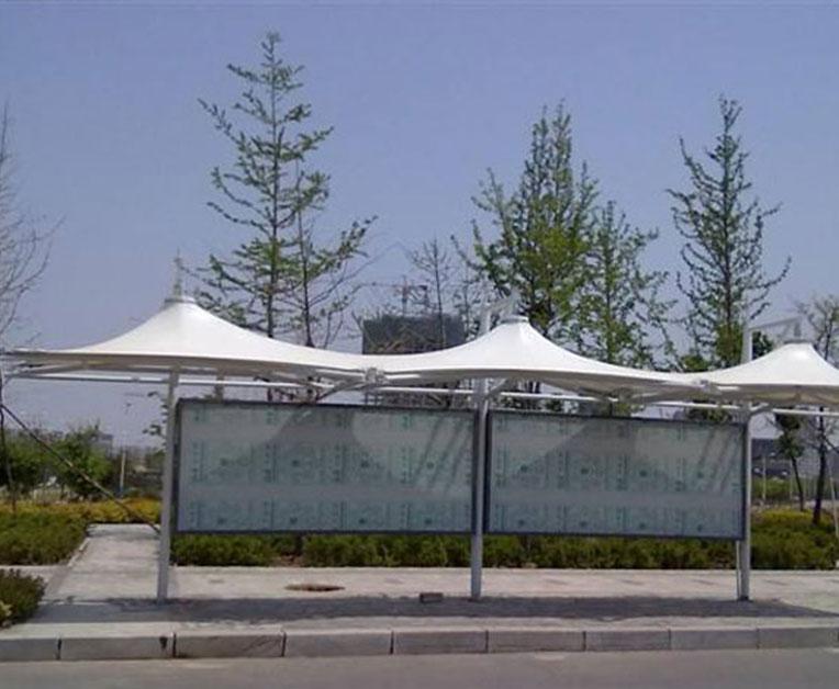 膜结构公交站亭