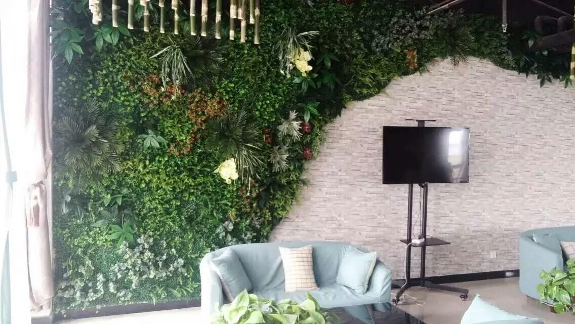 休闲健身绿植墙