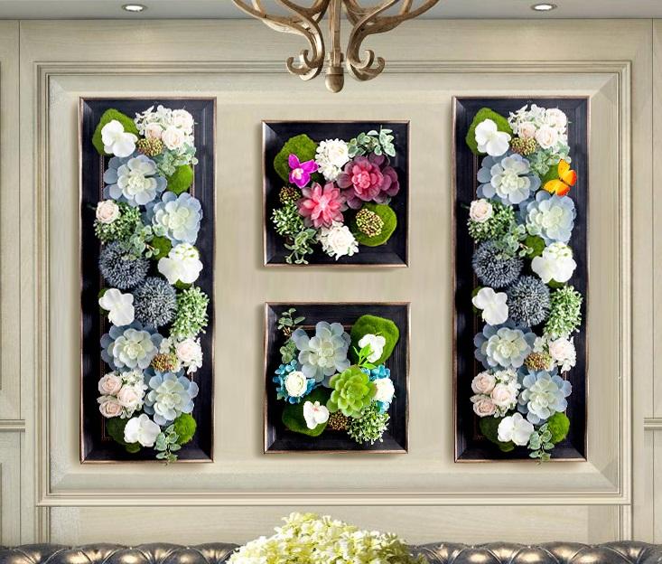 相框式挂饰绿植墙