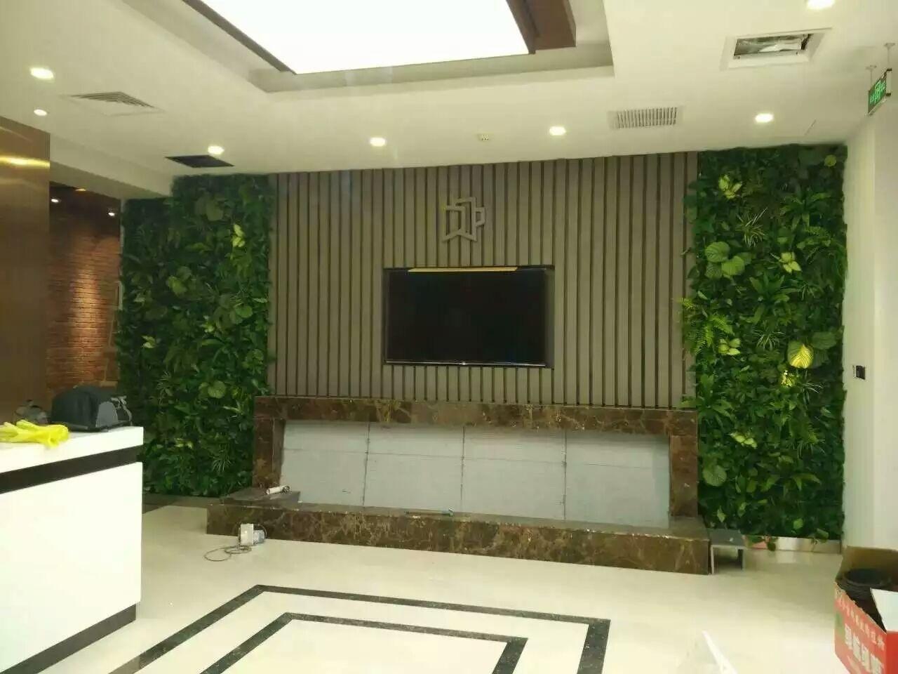温泉旅店会所绿植墙