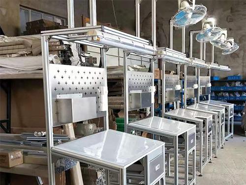 工业铝材生产线操作台