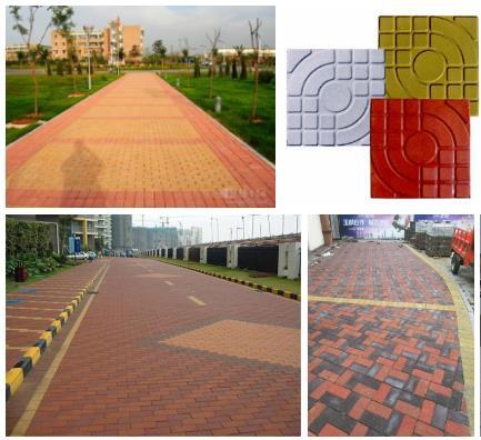 人行道彩色透水砖生产施工厂家