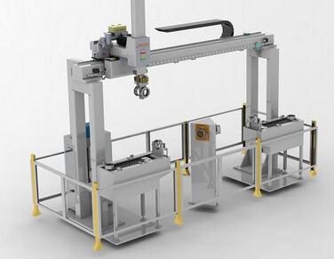 深圳机械手厂家桁架机械手在机床生产线的应用
