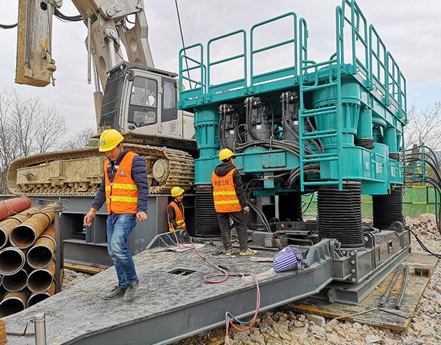 全回转钻机桩基施工工程
