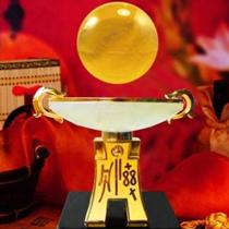 聚宝盆——四色龙纹漆线雕风水球