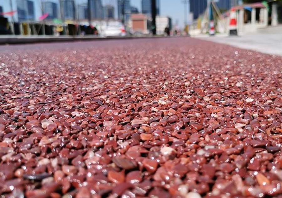 西安胶粘石路面施工