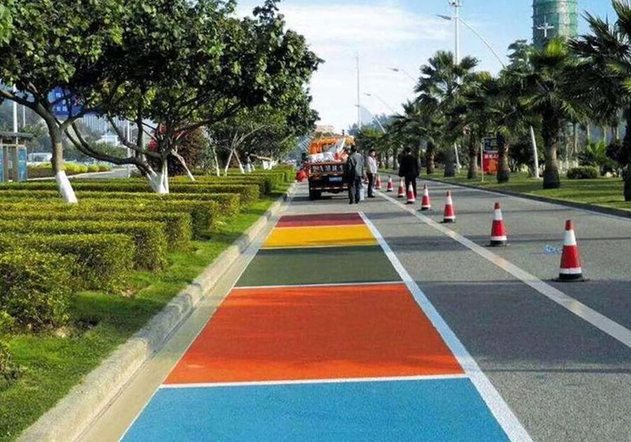 彩色透水沥青路面施工