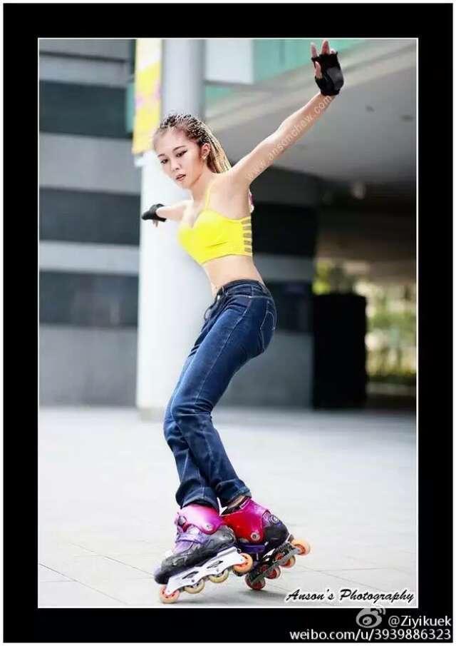 新加坡轮滑女神