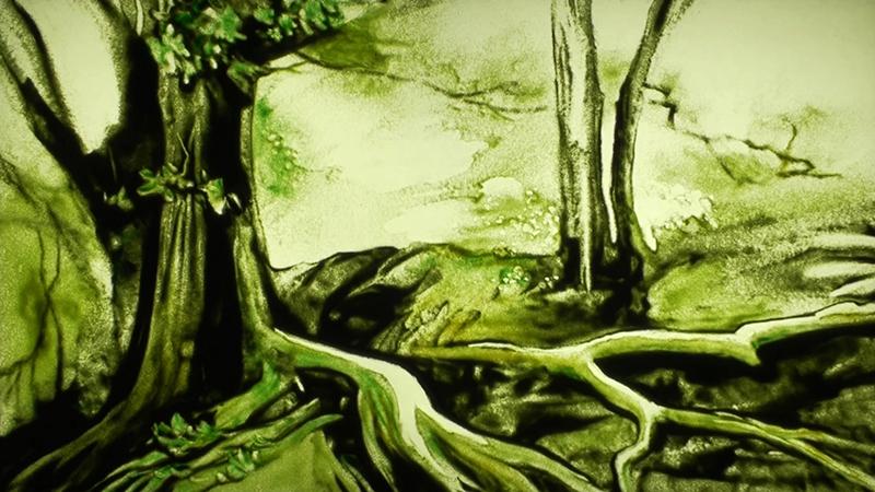 树木沙画视频