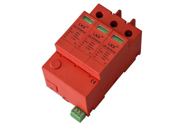 1000V直流电源防雷模块(3片、18mm)带遥信、一体式