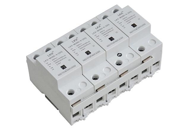 三相电源防雷模块(10#350us、放电管型、带窗口)灰白壳