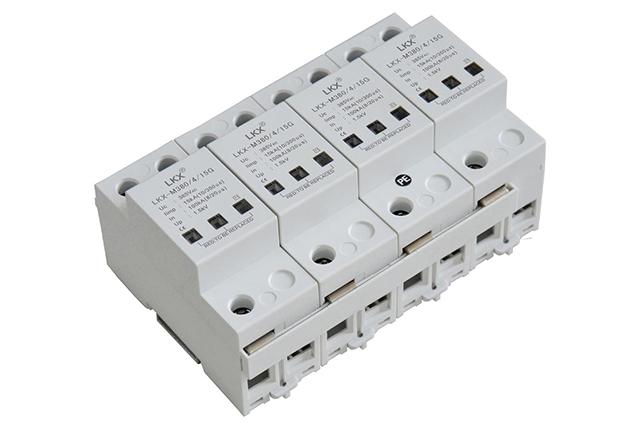 三相电源防雷模块(10#350us、压敏型)灰白壳