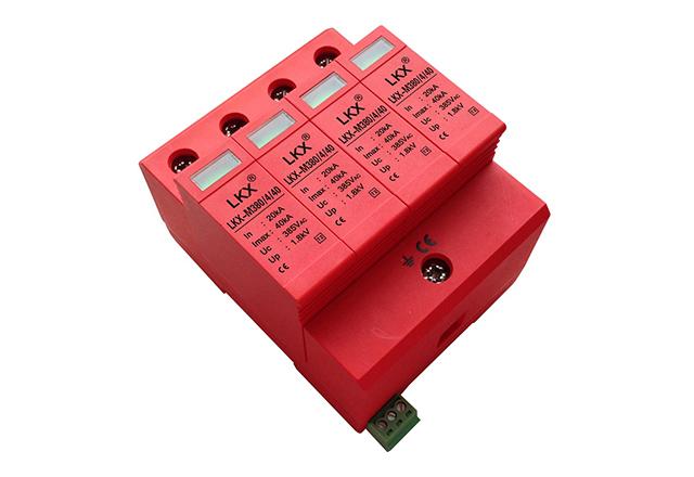 三相电源防雷模块(18mm)带遥信、一体式