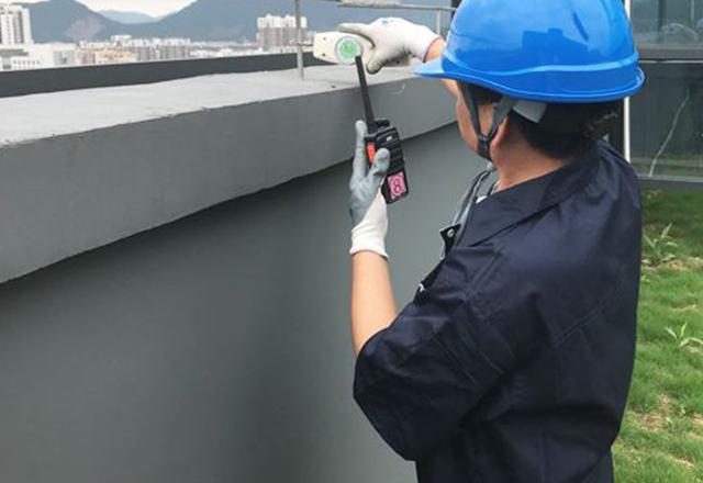 建筑防雷检测现场