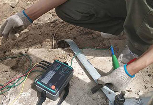 防雷设施检测现场