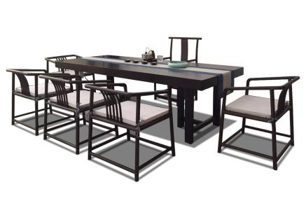 黑檀全方邊大板桌