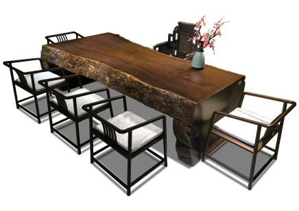黑檀連體整體桌