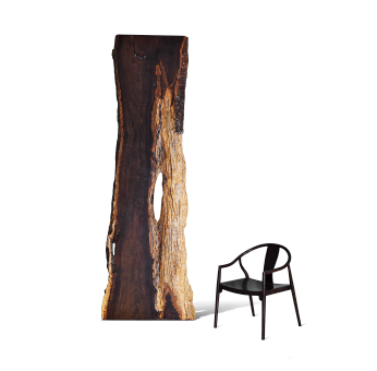 黑檀自然邊大板桌