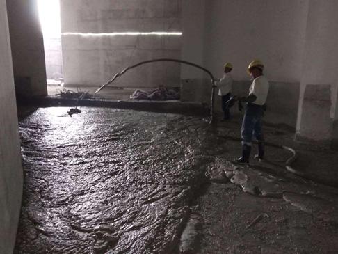 泡沫混凝土地下室填充