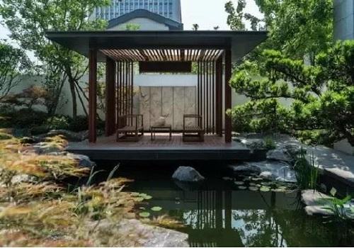 庭院假山鱼池
