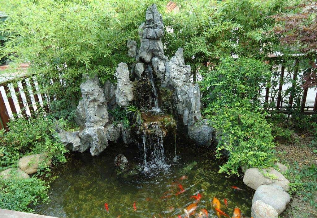 庭院假山鱼池设计主要的流程