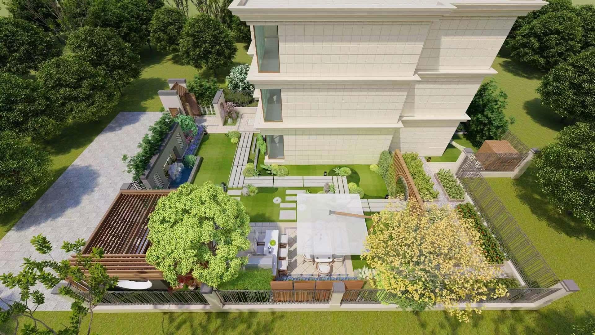 古典浪漫 别墅庭院设计案例