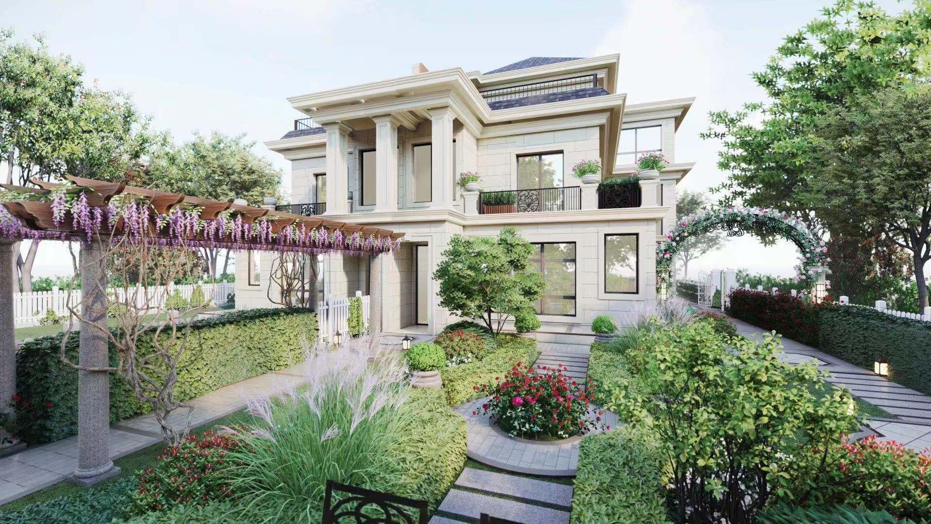 欧式浪漫 别墅庭院设计案例