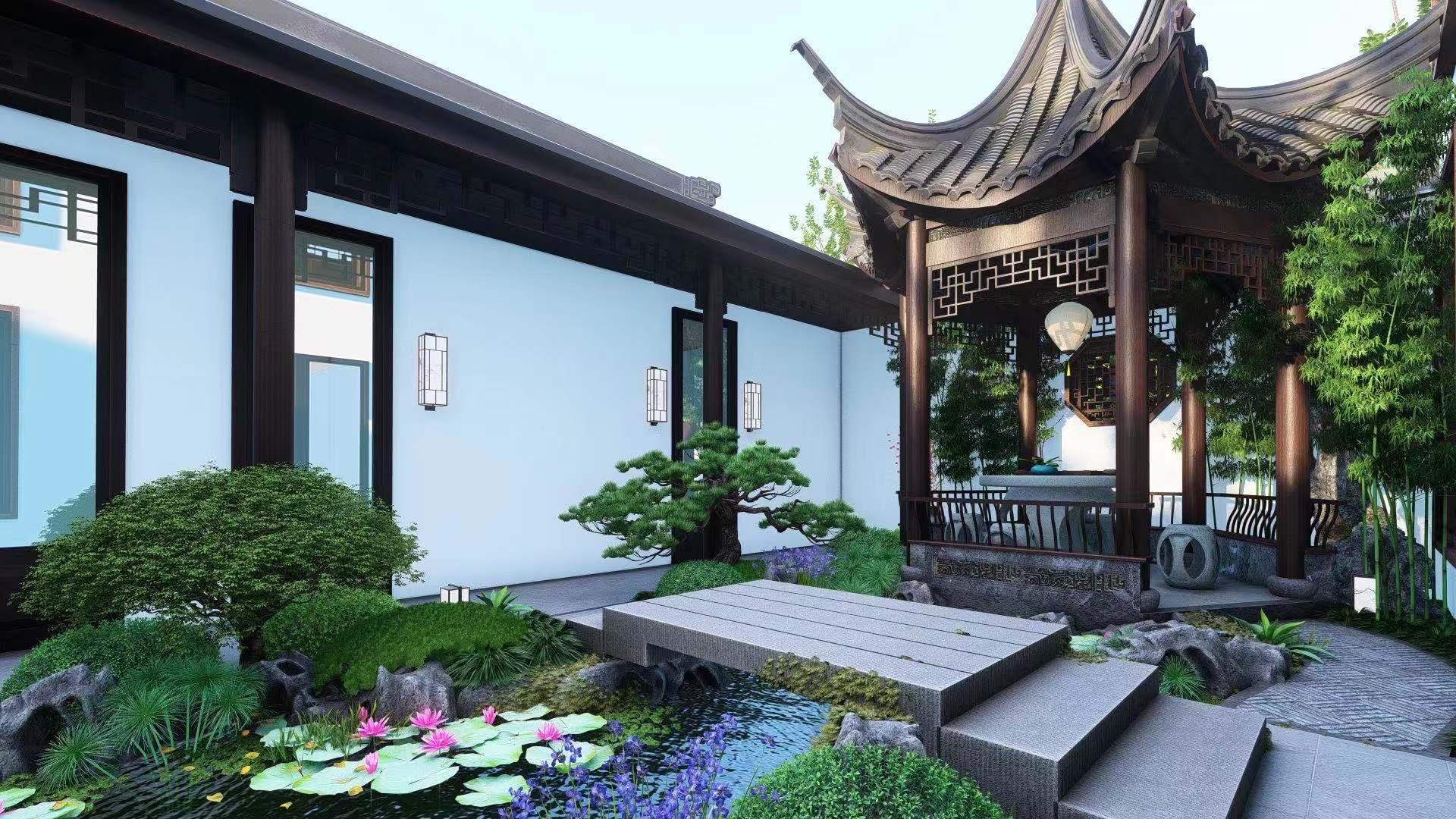 中式 别墅庭院设计