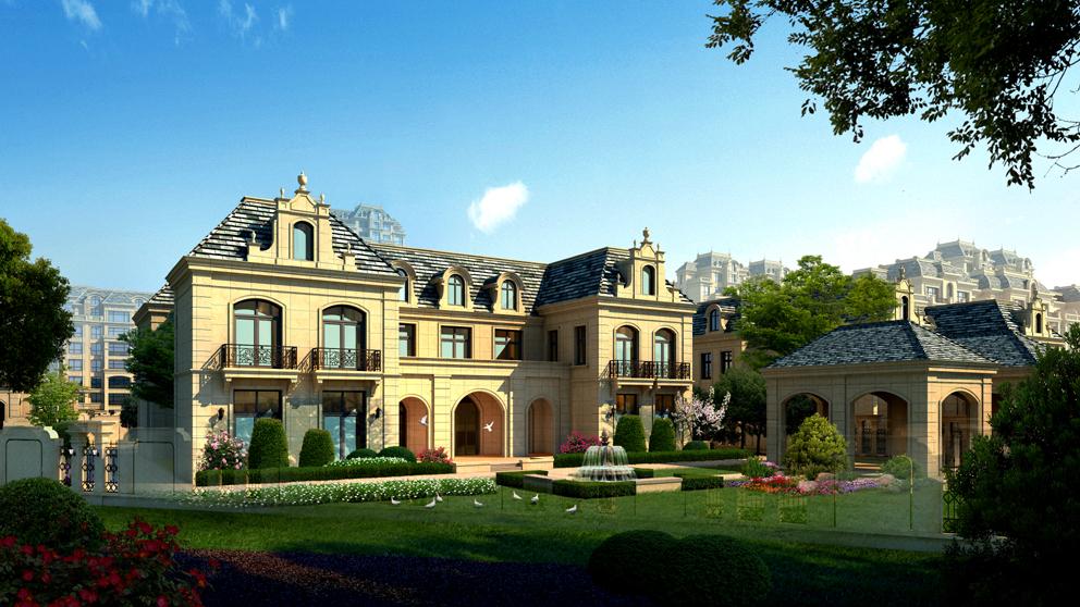 简欧风格 庭院景观设计施工
