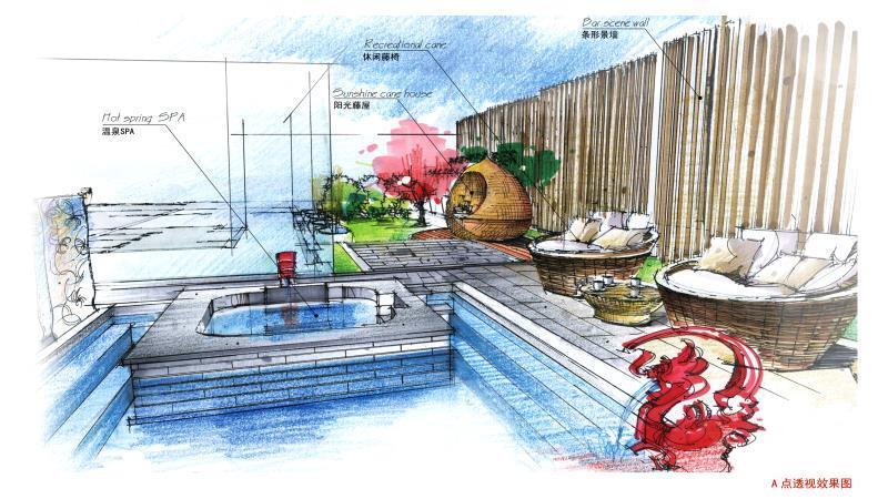 华清·爱琴海温泉度假酒店庭院设计