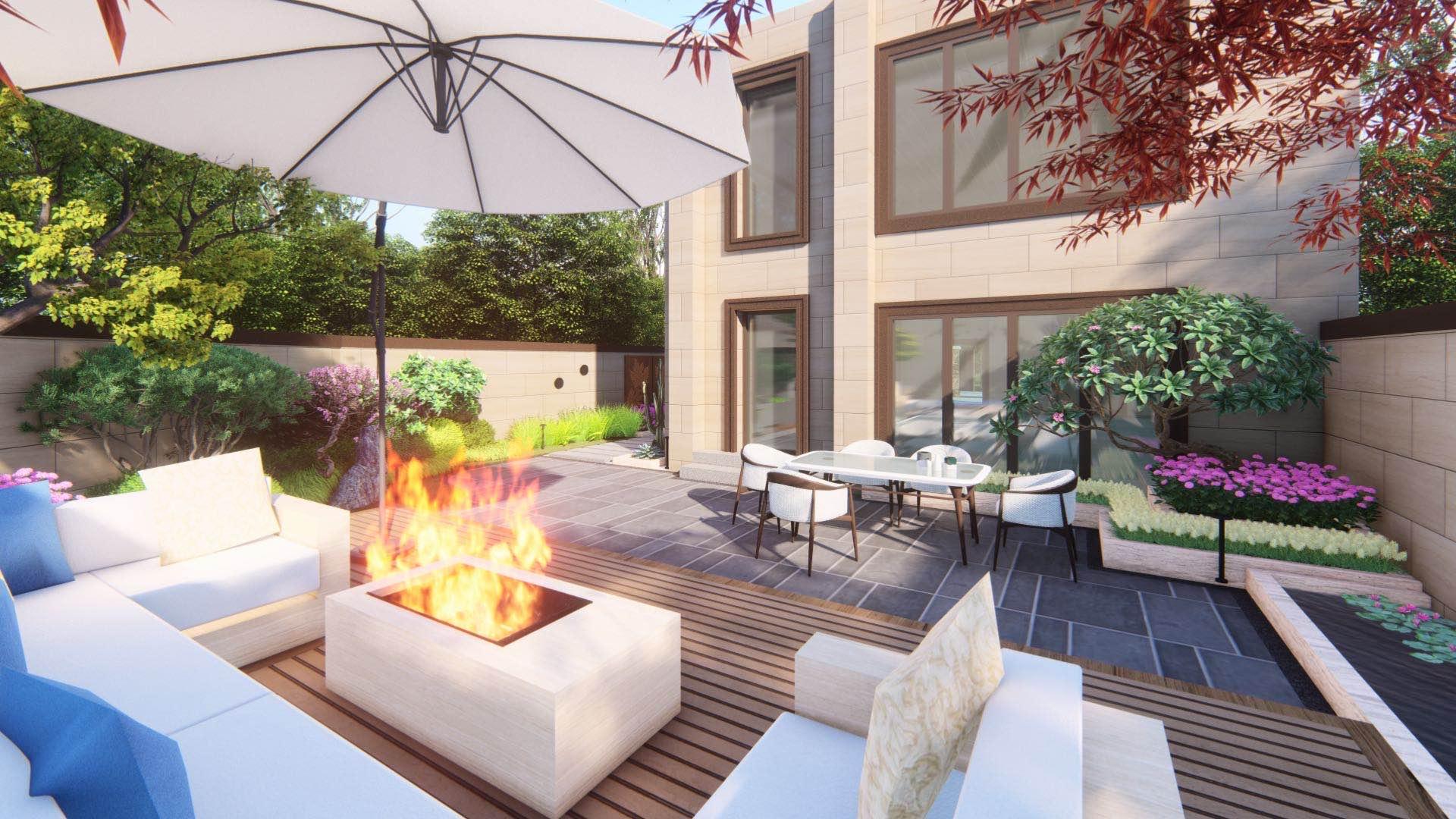 西安绿地城庭院设计