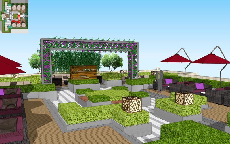 远景城公共空间屋顶花园