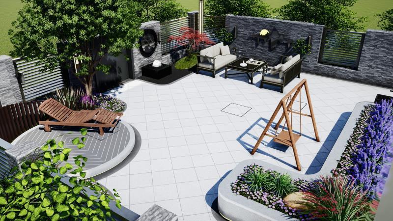 西安紫薇田园都市F区蓬莱仙境庭院设计